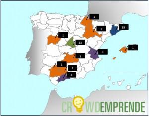 Mapa de Crowdfunding en Abril de 2015