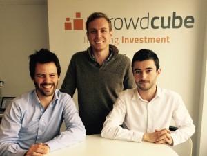Crowdcube (de izquierda a derecha): Pepe Borrell, director ejecutivo; Mac Parish, director de operaciones, y Oriol Cordón, director de inversiones