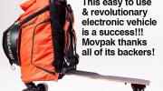 Consigue tu Movpak en Indiegogo, Mochila Monopatín Eléctrico