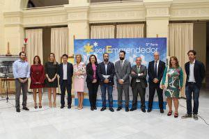 de izquierda a derecha, Pedrero, Sendra, Gálvez, Ventura, Caracuel, Martín, Cortés, Ruiz, Navarro, Salobreña, Ramírez y De Hoyos