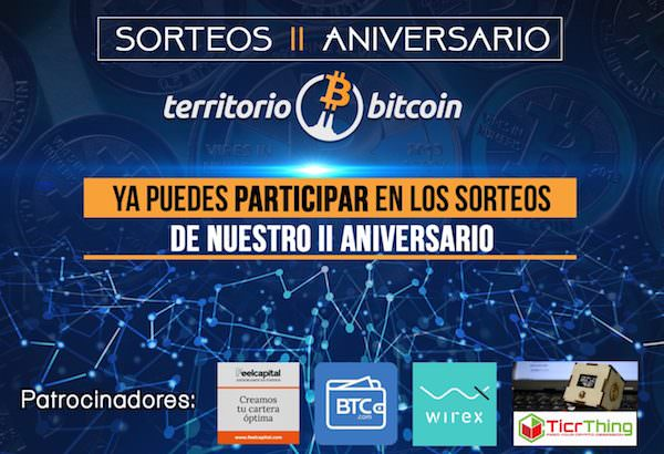 Territorio Bitcoin celebra su segundo aniversario con cuatro sorteos