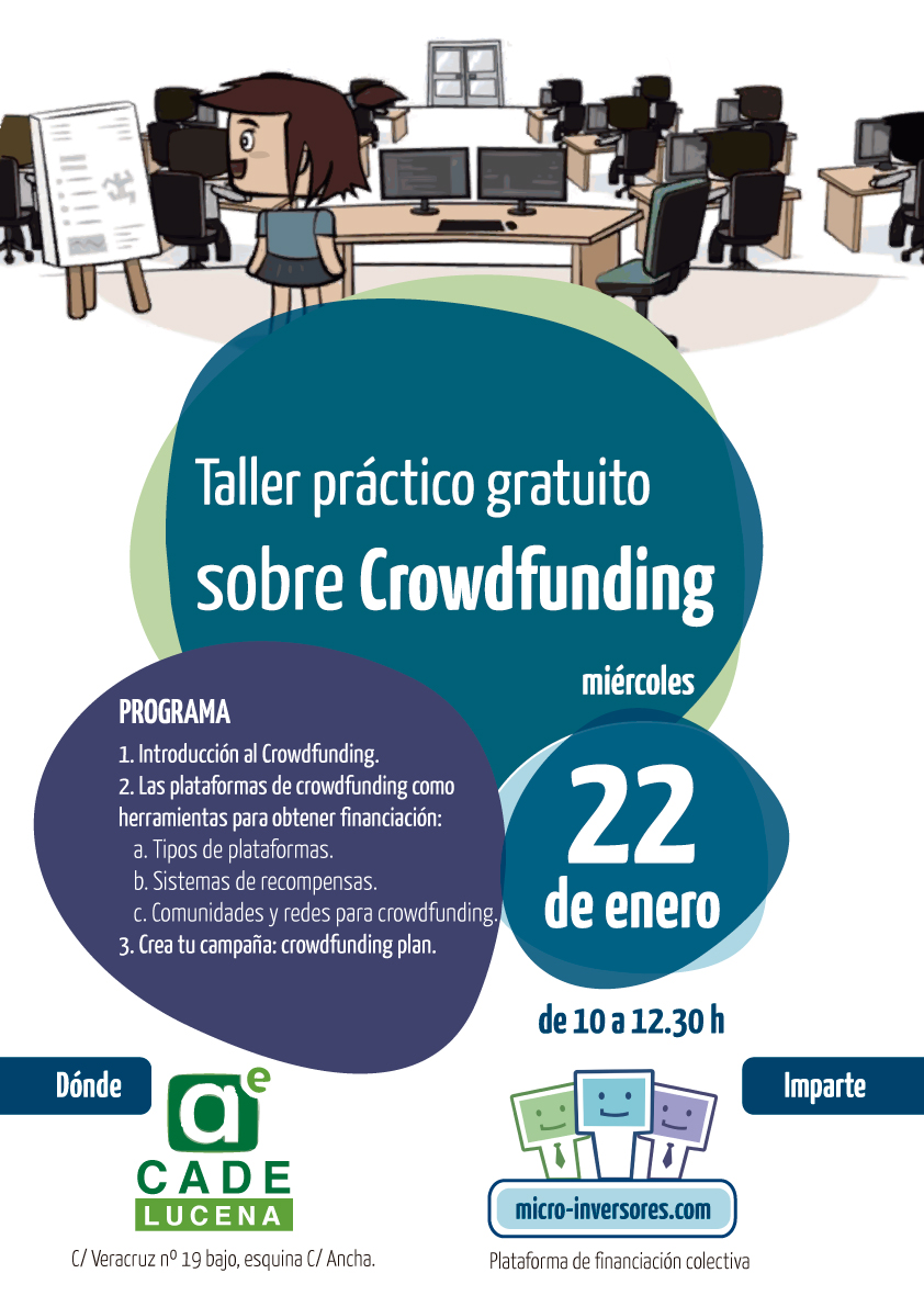 Taller gratuito sobre Crowdfunding en Lucena
