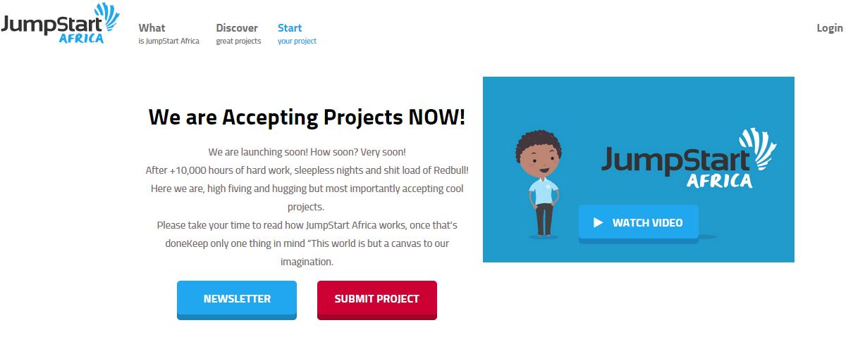 JumpStart Africa. Plataforma de Crowdfunding en África.