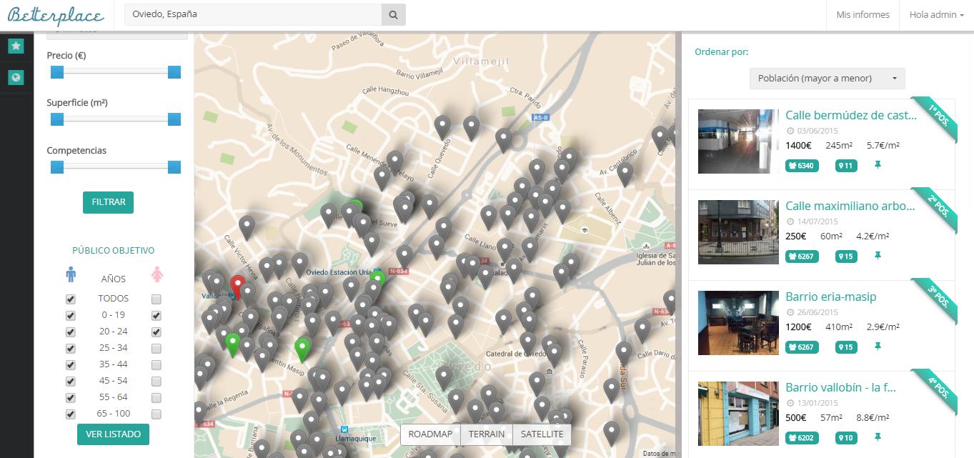 Elegir el Mejor Local Comercial para tu Negocio con Big Data ya es Posible con Betterplace