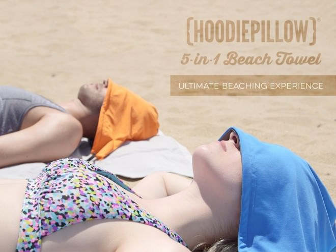 HoodiePillow una Toalla de Playa que Apuesta por la Innovación en Kickstarter