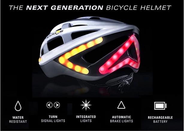 Dos Cascos de Bicicleta Inteligentes, Lumos o Livall, Kickstarter o Indiegogo