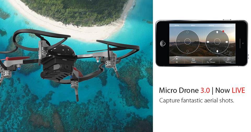 Micro Drone 3.0 Un Drone Muy Pequeño que Arrasa en Indiegogo