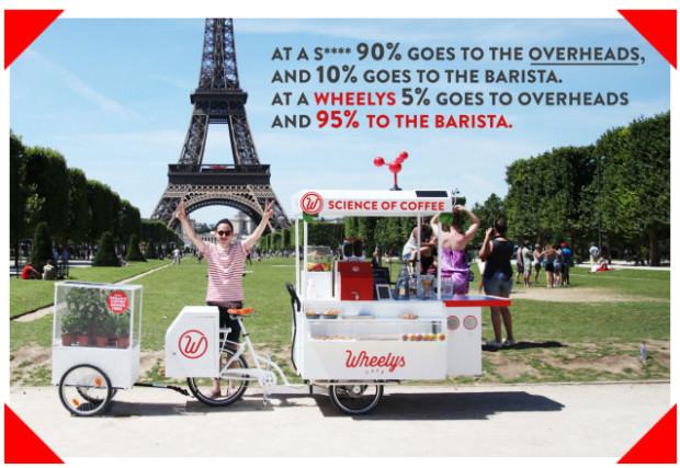 Wheelys Una campaña en Indiegogo para Competir con Starbucks por sólo 2.950 $
