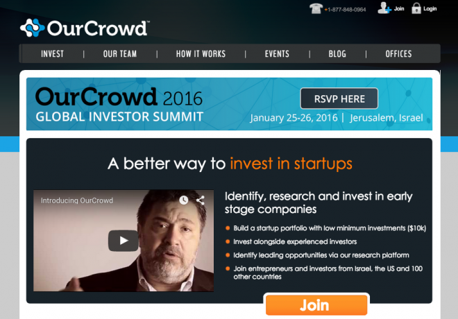 OurCrowd Plataforma de Equity Crowdfunding Israelí