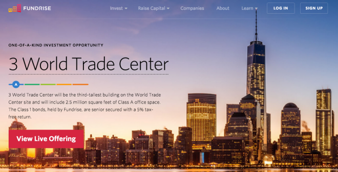 Fundrise Plataforma de Crowdfunding Inmobiliario Promueve la Construcción del World Trade Center de Manhattan