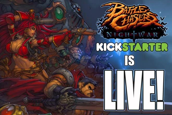Más de 600.000 $ para Battle Chasers: Nightwar Videojuego que Rememora a los Clásicos en Kickstarter
