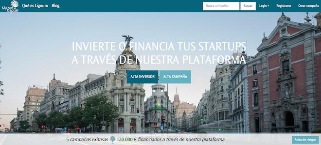 Lignum Capital Ofrece Inversión y Financiación de Startups en España