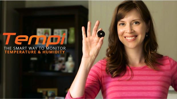 Medir la Temperatura y la Humedad con Tempi un Wearable Innovador en Indiegogo