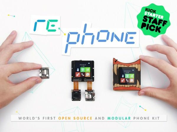 Rephone Kit Teléfono de Código Abierto Llega a Kickstarter a partir de 12 $