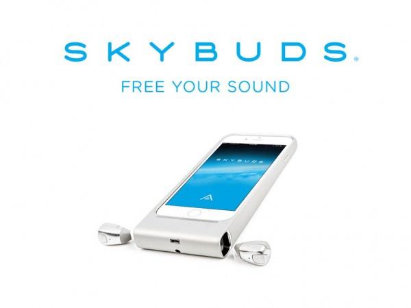 Con Skybuds podrás Cargar tu Smartphone, Protegerlo y Llevar tus Auriculares, Ahora en Kickstarter