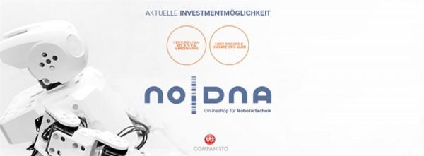 noDNA Componentes de Robótica Especializado en I+D Busca Inversión en Companisto