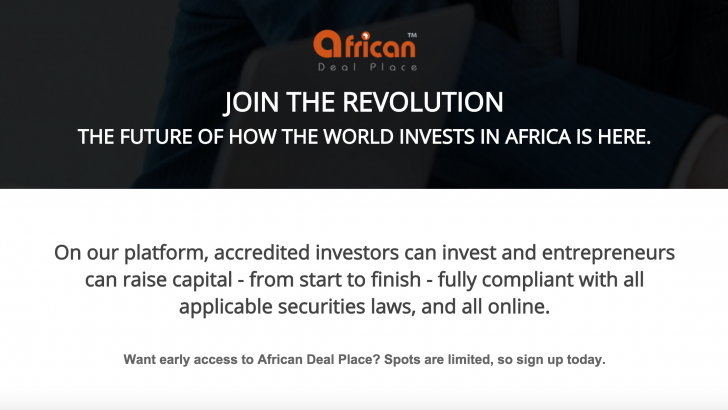 African Deal Place Promueve la Inversión de Startups en África
