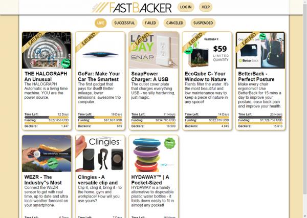 Fast Backer Encuentra las Mejores Recompensas de Kickstarter