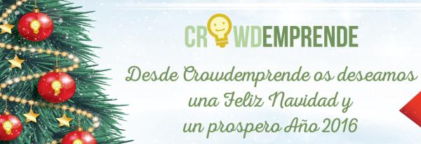 CrowdEmprende os Desea Feliz Navidad y Próspero Año 2016