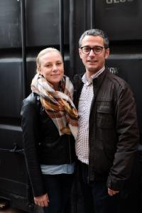 A la derecha, Sergio Belzunce CEO y fundador de Helt