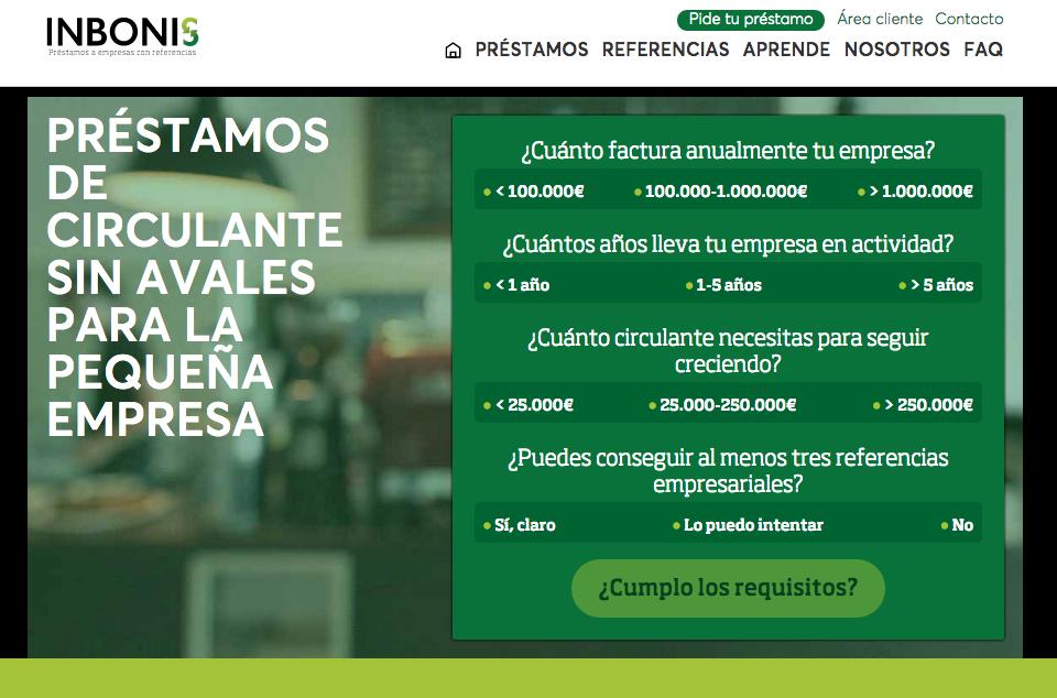 Inbonis, Ofrece Préstamos para Financiar Circulante