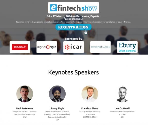 eFintech Show, Cita con el Fintech Internacional en Barcelona