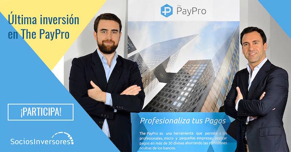The PayPro Startup Fintech Lanza Crowdfunding de Inversión