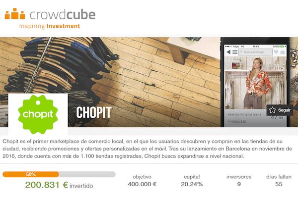 Chopit busca 400.000 euros de financiación en Crowdcube para expandirse
