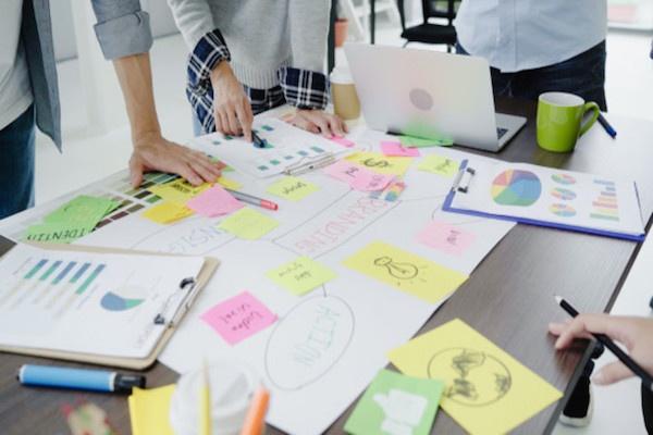 Mejora la productividad de tus reuniones de brainstorming con notas adhesivas